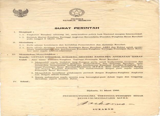 surat perintah sebelah maret